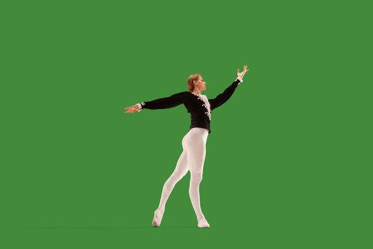 Ballet on green screen