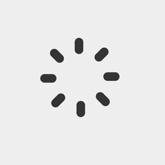 Loading vector icon solid grey