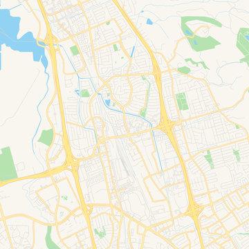 Empty vector map of Milpitas, California, USA