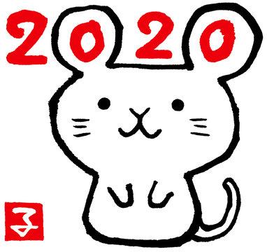 2020ねずみ 赤