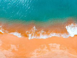 orange and green colors in vintage style from an portuguese beach Fototapete