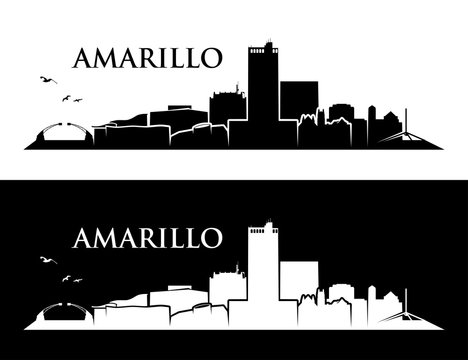 Amarillo skyline - Texas, United States of America, USA - vector illustration - Vector