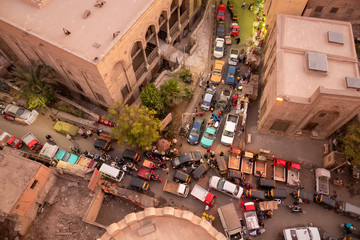 traffic jam at Cairo Egypt Papier Peint