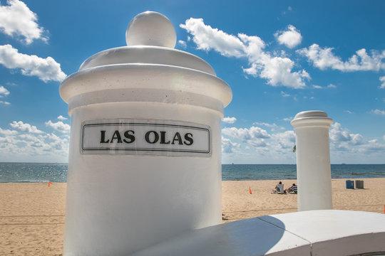 Fort Lauderdale beach across Las Olas Boulevard