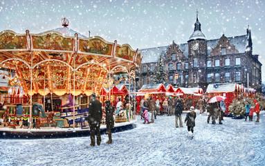 Weihnachtsmarkt in Düsseldorf ; Deutschland