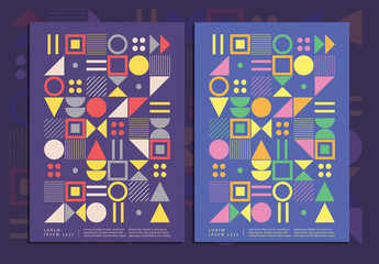 Colorful Geometric Event Poster