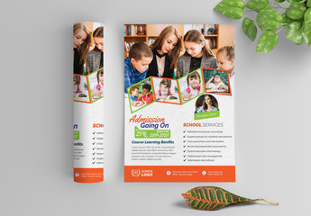 Multicolored School Flyer Layout