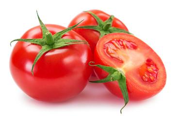 Fototapete - Fresh tomato on white background