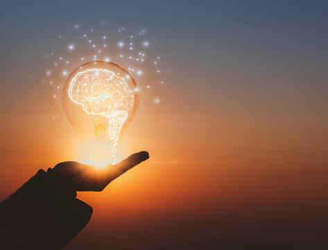creative idea.Concept of idea and innovation