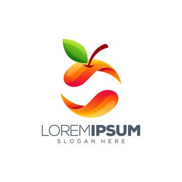 colorful orange logo design