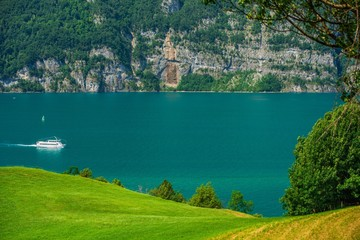 Wall Mural - Lake Brienz Switzerland