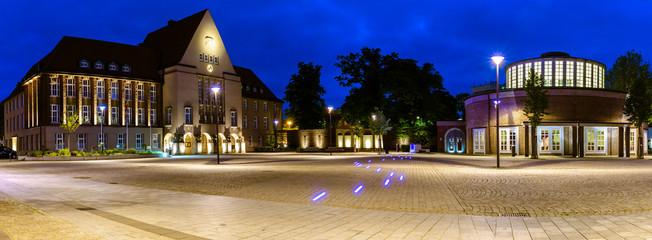 Marktplatz mit Markthalle Fototapete