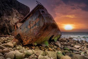 Printed roller blinds Shipwreck ship