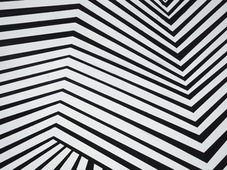 Black and white graphic pattern as background, texture. Broken lines