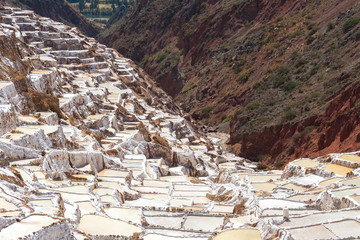 Salt Terraces known as 'Salineras de Maras' in Cusco Region, Peru