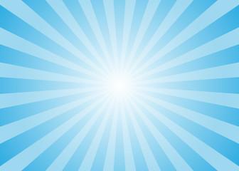 Sun rays vector. Abstract blue sun rays background Wall mural