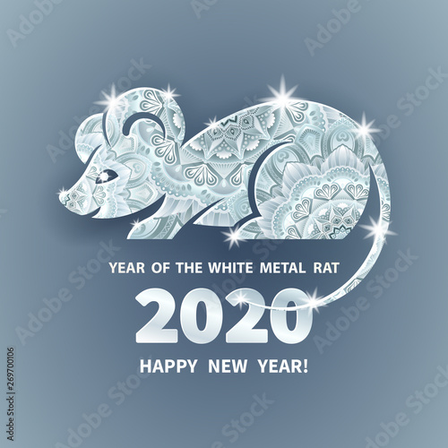 """""""2020 Year of the RAT"""" Stock image and royalty-free vector ..."""