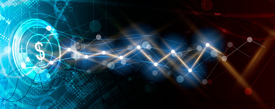 Abstract finance and business background with graph