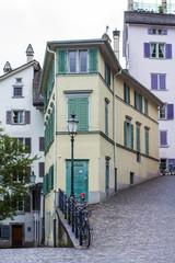 Streets of Zurich. Zurich architecture. Street photo