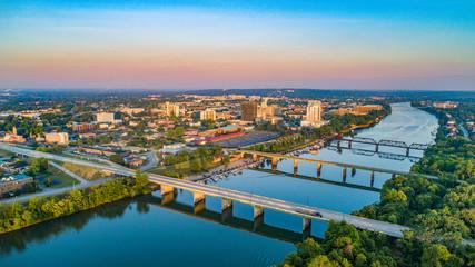 Fototapeta Augusta, Georgia, USA Downtown Skyline Aerial obraz