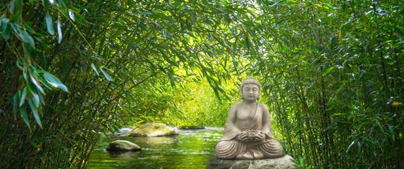 buddha wasser bambuswald