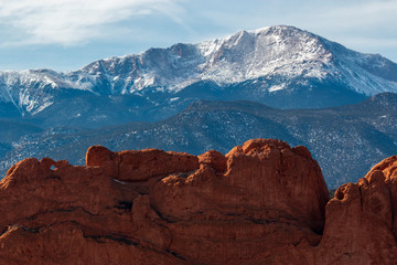 Garden  of the Gods Colorado at the base of Pikes Peak