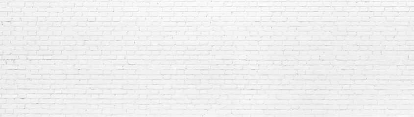 Spoed Fotobehang Baksteen muur White brick Wall panoramic background
