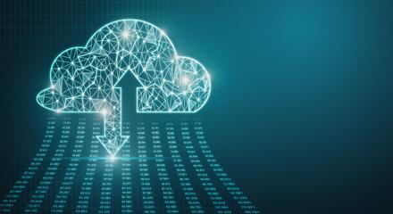 Fotobehang - Cloud computing and server concept