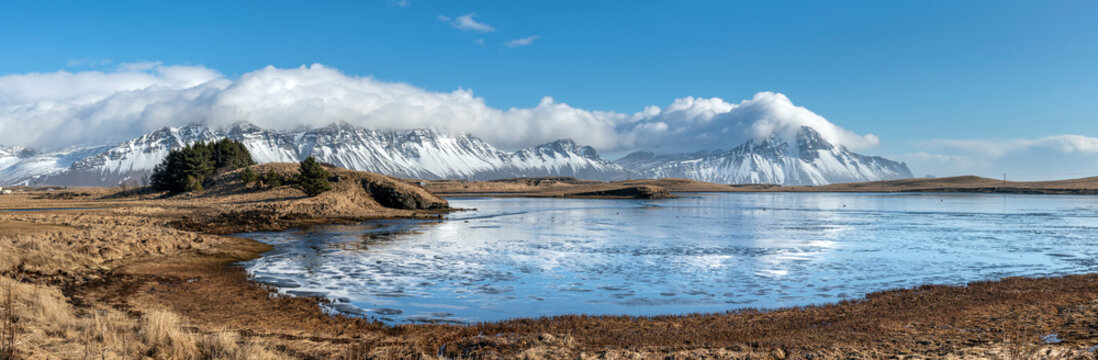 Panorama of Iceland countryside