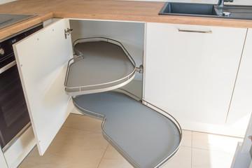 Detail of kitchen cabinet