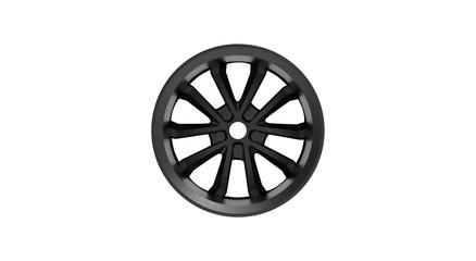Metal Wheel Disk 3D Rendering