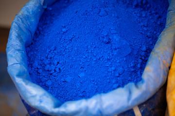 Pigmento azul en Chauen, Marruecos