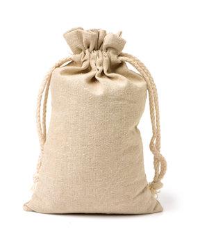 linen bag on white background