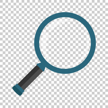 Loupe sign icon in transparent style. Magnifier vector illustration on isolated background. Search business concept.