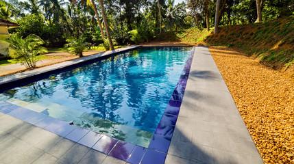 Swimming pool water blue glass mosaic