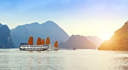 Discover liner Sails ship Halong Bay Top Destinations Vietnam.