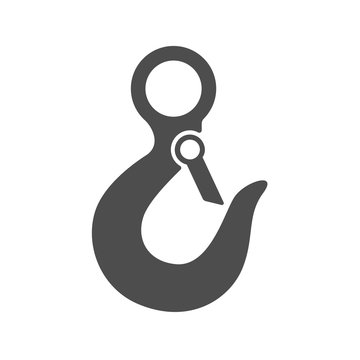 crane hook vector icon isolated on white background. crane hook flat icon for web, mobile and user interface design