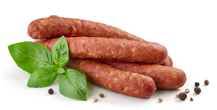 smoked sausages with herbs and spices