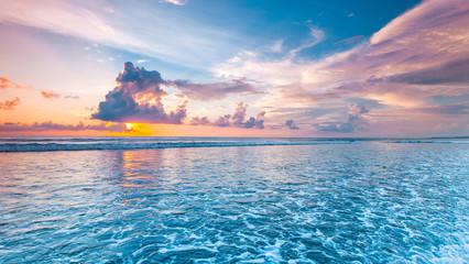 Printed kitchen splashbacks Sea sunset Sunset over the sea
