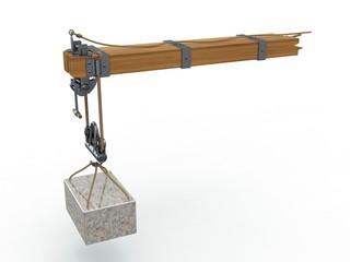 Crane arm, Leonardo da Vinci, Codex Atlanticus 0944r.