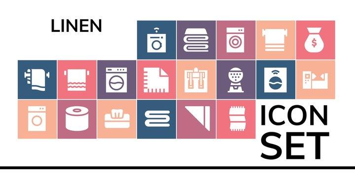linen icon set