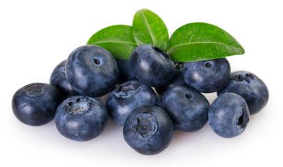 Fototapete - Fresh blueberry on white background