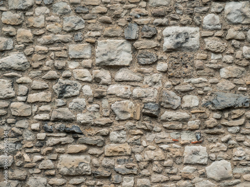 Old Beige Stone Wall Background Texture Close Up Texture Of