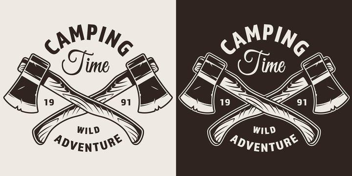 Monochrome camping season print