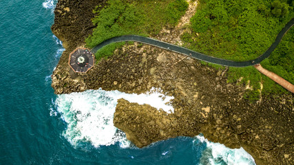 beautiful travel Bali Indonesia with a drone pictures