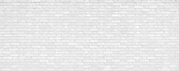 Foto auf Leinwand Graffiti White brick wall modern Background.