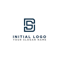 logo design inspiration for companies from the initial letters of the DS logo icon. -Vector