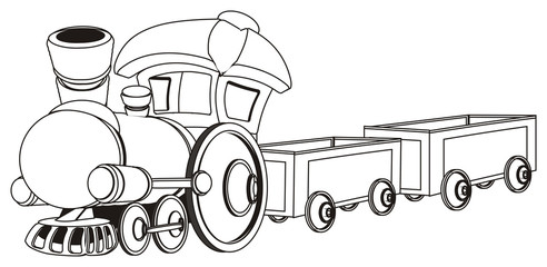 not colored toy train