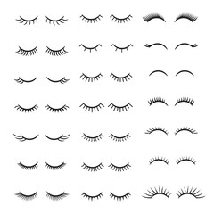 Eyelashes logo set. Vector