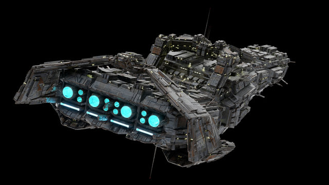 Battleship Spaceship - rear view.